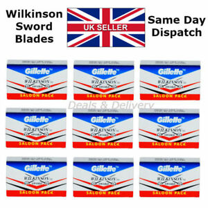 100-Wilkinson-Sword-Double-Edge-Safety-Shaving-Razor-Blades-STAINLESS-10-Free