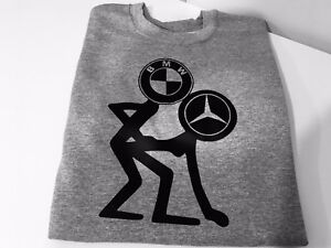 Funny Bmw And Mercedes Printed On Hoodie Great Gift