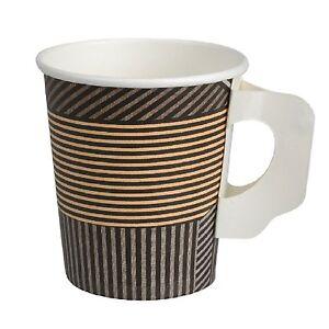 Coffee to go Becher 18 cl Kaffeebecher mit Henkel 1000 Pappbecher 180 ml