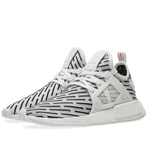 Image is loading Adidas-NMD-XR1-PK-Zebra-White-Black-Size-