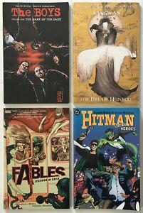 The Boys, Sandman, Fables, Hitman Graphic Novel / TPB Comic Lot of 4 DC Vertigo