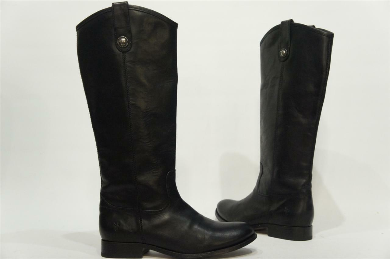 FRYE MELISSA BUTTON schwarz Stiefel schuhe 7.5     368 385e5d