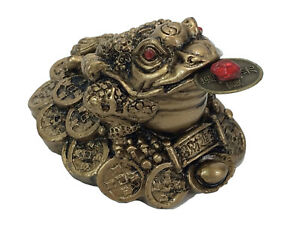 Fortune-Lucky-Coin-Frog-Money-Toad-Statue-Figurine-Brass-Gold-Resin-Feng-Shui