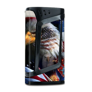 Skins Decals for Smok Alien 220w TC Vape Mod / USA Bald Eagle in Flag