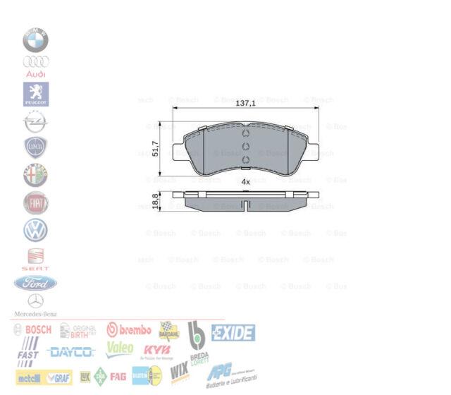 Pastiglie freno anteriori Peugeot 307 sw berlina 1.4 1.6 hdi 50 66 80 kw BOSCH