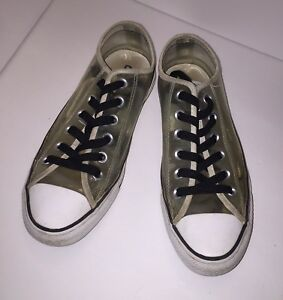 dd0c2697b8aa36 Converse Chuck Taylor All Star Low Top Clear Women s Size 7 Sneakers ...