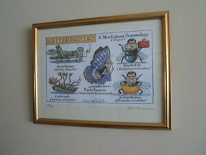 Peter-Brookes-Tony-Blair-Cabinet-Framed-Signed-Limited-Edition-Litho-Print