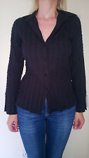**LADIES DESIGNER (REDGREEN) BLACK SHIRT/BLOUSE, SIZE 10, BNWT**