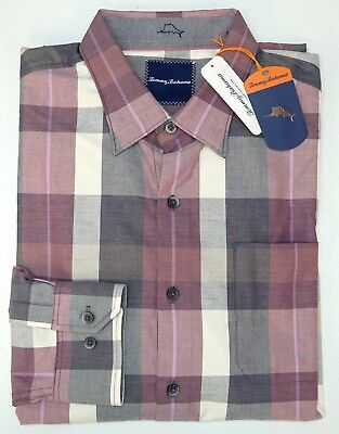 NWT $118 Tommy Bahama LS Shirt Mens Size S M L Blue Orange Pink Red Cotton Plaid
