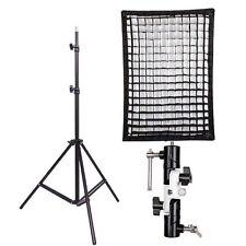 Godox 60x90cm honeycomb Grid Umbrella Softbox hot shoe bracket Light Stand kit