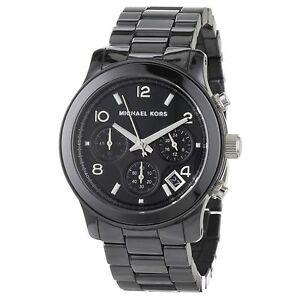 Orologio-MICHAEL-KORS-MK5162-cronografo-nero-in-ceramica-con-box-e-garanzia