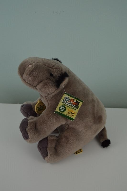 Wild Republic Cuddlekins Hippopotamus Plush Stuffed Animal 12  Hippo 80074 w Tag