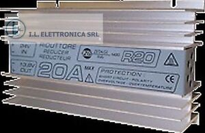 ZETAGI R20 RIDUTTORE DI TENSIONE 24-12 Vcc 20 A max.   COD.33030