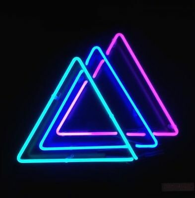 "New Tattoo Triangle Neon Light Sign Pub Artwork Beer Decor Acrylic Box 14/"""