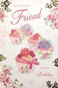 Image Is Loading Wonderful Friend Happy Birthday Card Luxury Verse