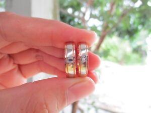 .01 Carat Diamond Twotone Gold Wedding Ring 18k codeWR77 sepvergara