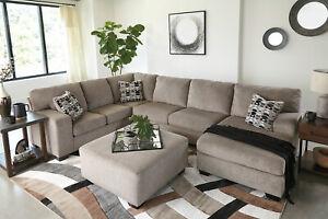 Tan Chenille Sofa Couch