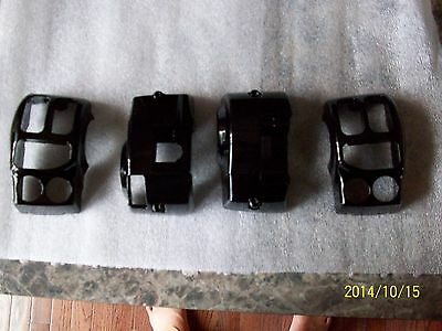 harley switch housings-street glide-road glide-ultra-GLOSS BLACK -2014-2015 TOUR
