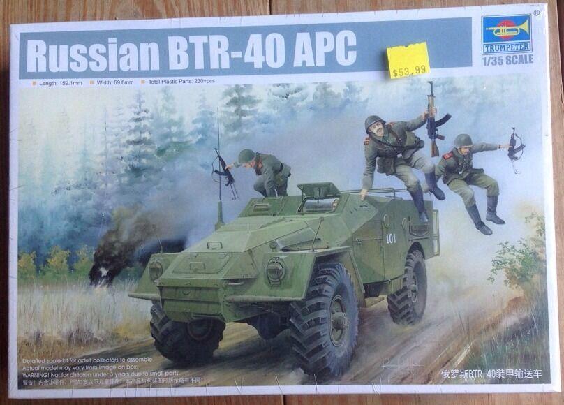 Trumpeter 1 35 05517 Russian BTR-40 APC Armored Transport Vehicle Tank Mold Kit