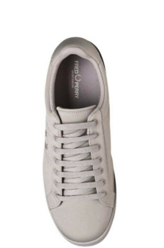 Fred Perry Homme Tricot Baskets Baskets Chaussures B3113-929 Silver