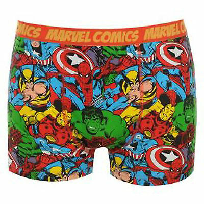 MENS OFFICIAL MARVEL COMICS BOXERS CARTOON HULK SPIDERMAN AVENGERS NEXT DAY POST