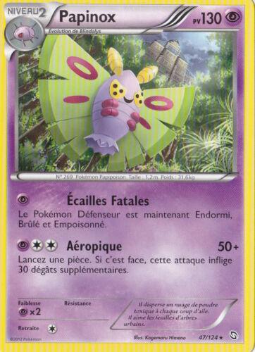 Papinox Noir /& Blanc-Dragons Exaltés-47//124-Carte Pokemon France Neuve