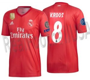 check out 1d4e4 56352 Details about ADIDAS TONY KROOS REAL MADRID UEFA CHAMPIONS LEAGUE THIRD  JERSEY 2018/19.