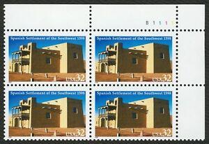 #3220 32c Español Settlement Of Sw, Placa Bloque [B1111 Ur ] Cualquier 5=
