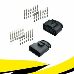 Buchse + Stecker 14-polig Reparatursatz 6X0973717 6X0973817 für VW AUDI MT Crimp