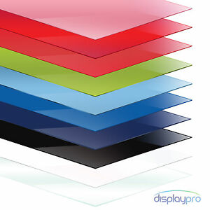 Colour Perspex Acrylic Sheet Plastic Material Panel Cut To