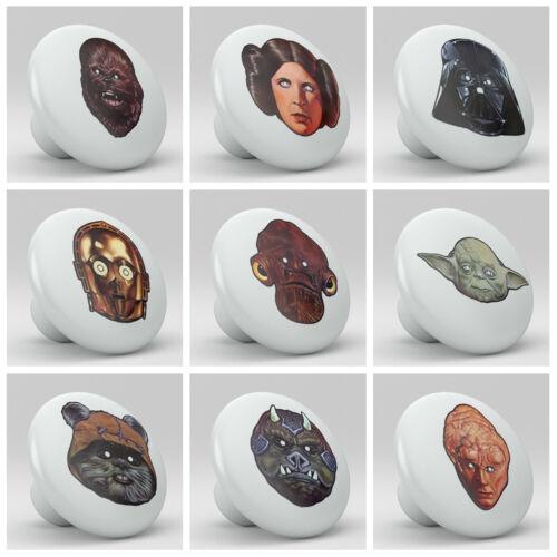 Set of 9 Star Wars Vintage Vader Ceramic Knobs Pulls Bed Drawer Dresser 1675