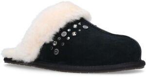 ef86d3aa06e149 UGG Scuffette II Studded Bling Black Fur Slippers Womens Size 6 Mule ...