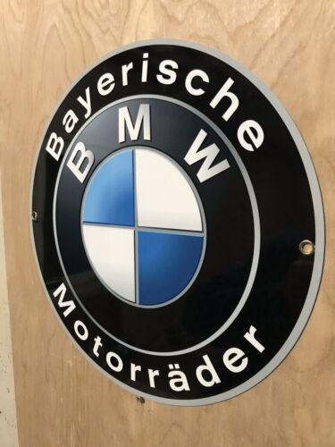 Bmw Motorcycle Bayeriche Motoradder Garage Sign Reproduction