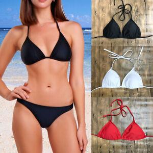 Black /& white halter neck bikini top beachwear//swimwear//summer//set 8//10//12