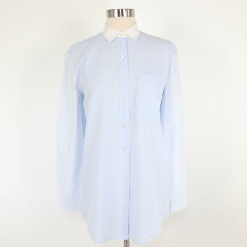 ATM Button-Up Shirt Blouse Top Womens XS Light Blu