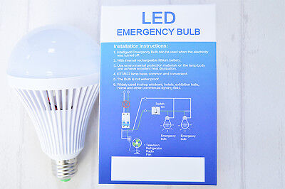 E27 Rechargeable White LED Emergency Camping Hunting Light Bulb Lamp 5/7/9/12W