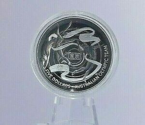2020-5-Silver-Proof-Domed-Coin-Australian-Olympic-Team-Rare-Collectable-CoA