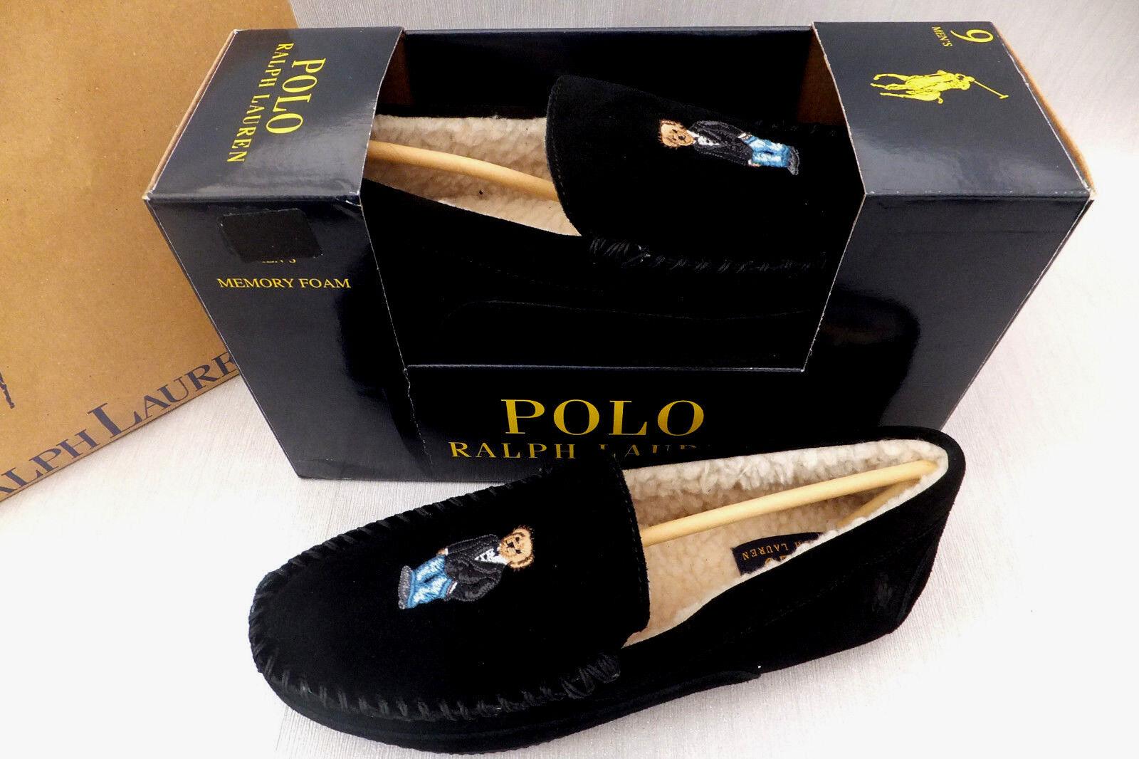 Ralph Lauren Uomo Nero Markel III III III Luxuary mocassini pantofole taglia NUOVO IN SCATOLA | Bel Colore  | Uomini/Donne Scarpa  47b0e2