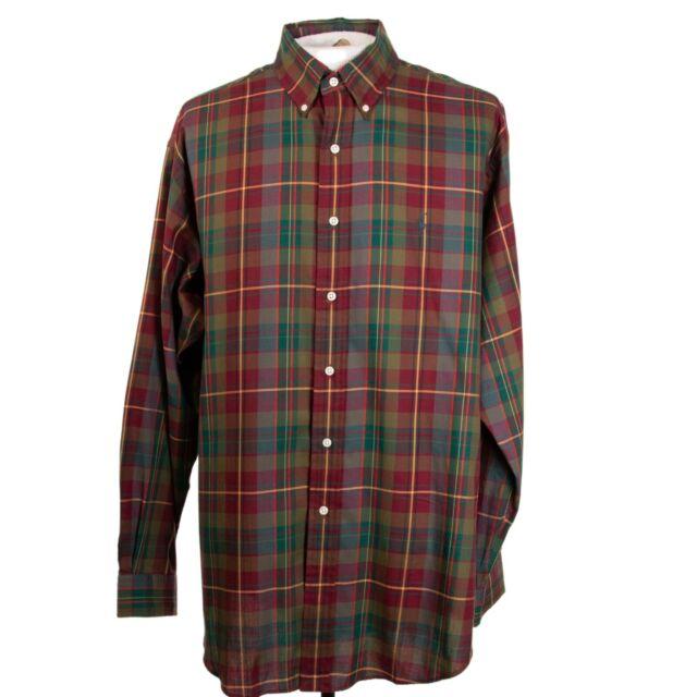 Polo Ralph Lauren Blake Mens L Red Plaid Logo LS Button Front Shirt