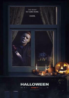 Halloween Movie Poster 2018.Halloween 2018 Movie Poster Michael Myers New 11x17 13x19 Ebay
