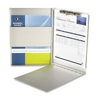 Business Source Side-opening Aluminum Storage Clipboard - Bsn28555