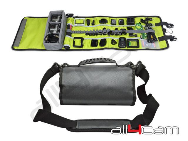Roll Up Case Shoulder Bag for SjCam Xiaomi Yi Sj Cam Canvas Travel Camera Case