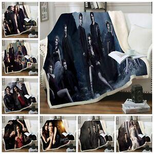 The Vampire Diarie 3D Print Blanket Throw Sofa Bed Warm Fleece Single Double J66
