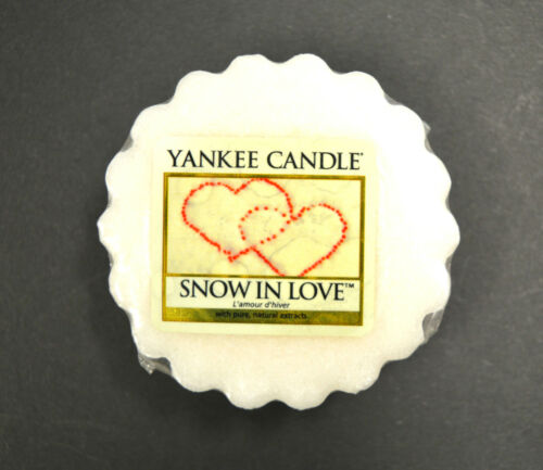 Yankee candle tart 22 G Original Snow in Love Noël Parfum Bougie Huile Melts