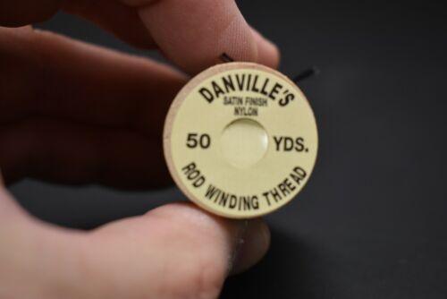 1 Spool 50 yards #100 BLACK Danville/'s Nylon Rod Winding Thread Size D