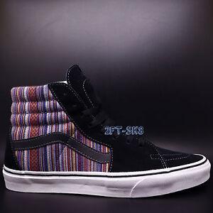 1bb2463617 Vans SK8-Hi Guate Weave Black Multi MENS SKATE SHOES   S89119.213