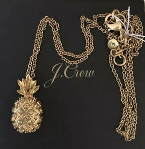 NWT-JCREW-Pineapple-pendant-necklace