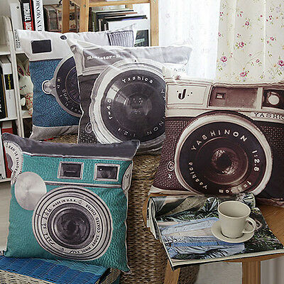 New Arrival Retro Camera Home Decor Cushion Cover Throw Pillow Case