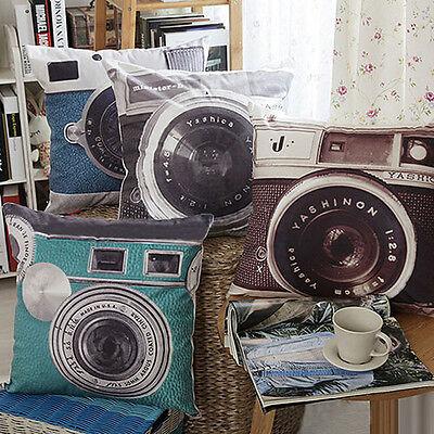 New Arrival Retro Camera Home Decor Cushion Cover Throw Pillow Case