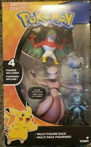 TOMY-POKEMON-MEWTWO-HAWLUCHA-RIOLU-ESPURR-MULTI-ACTION-FIGURES-4-PACK-VAULTED
